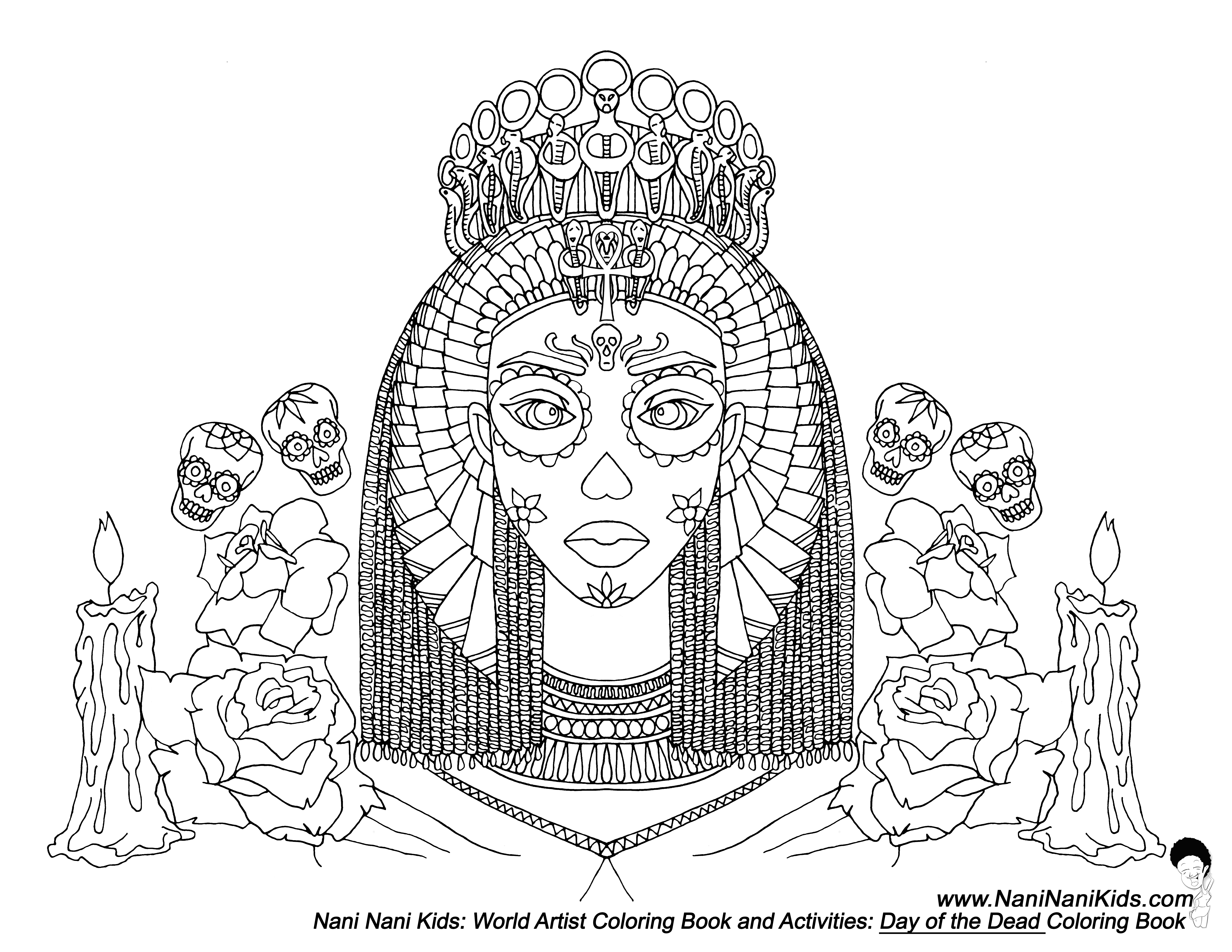 egyptian women coloring pages - photo#20