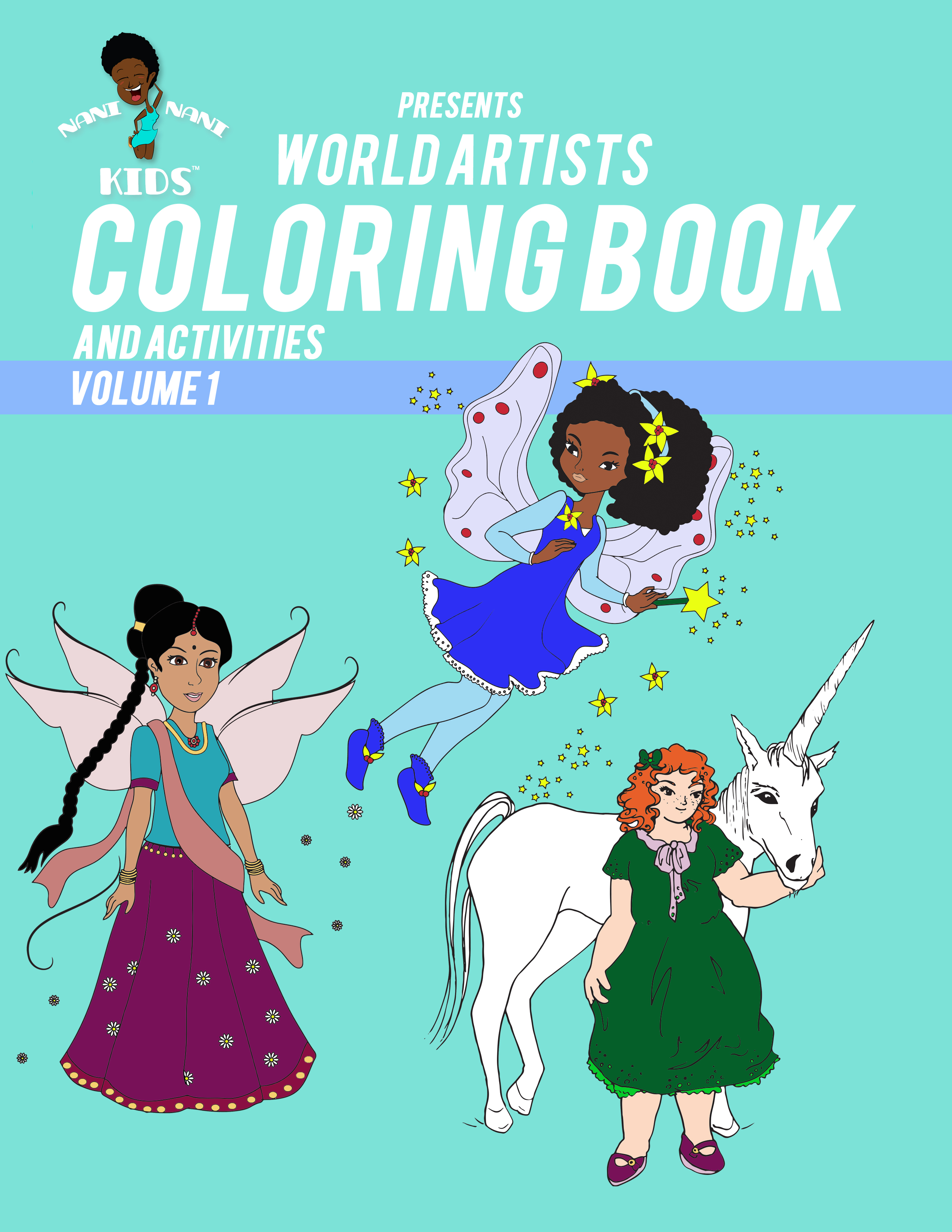 World Artist Coloring Book and Activities (Volume 1) – Nani Nani Kids