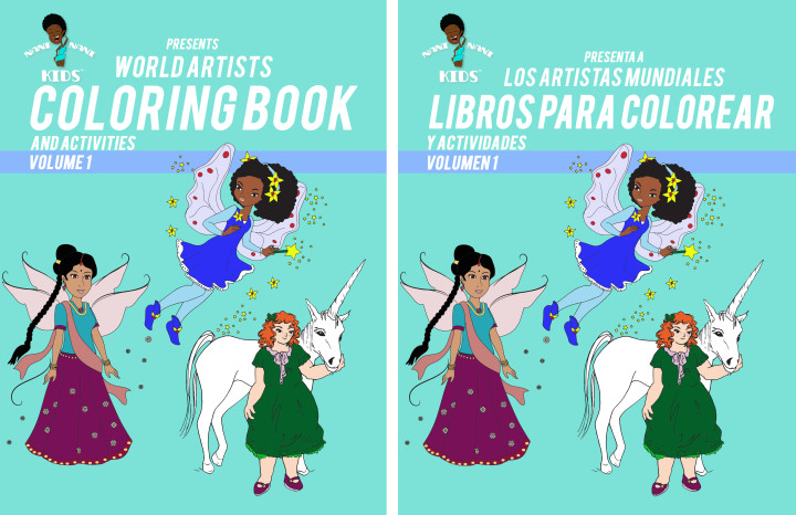 Bilingual Multicultural Coloring books